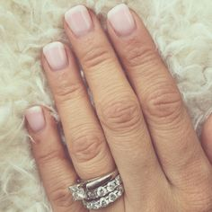 American French manicure  Opi bubble bath & funny bunny