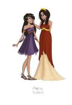 Greek Goddesses: Demeter and Persephone by JadeAriel.deviant... on @deviantART