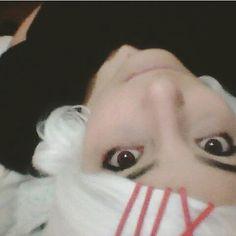 I love this make-up (ω) #selfie #selca #me #boy #cosplay #suzuyacosplay #suzuyajuuzou #juuzoucosplay #juuzousuzuya #tokyoghoulsuzuya #tokyoghoul #tokyoghoulcosplay #tokyoghouljuuzou #anime #manga #animecosplay #mangacosplay #instantcosplay #instant #red #lens #redlenses #makeup #wig #romics #italiancosplayer #romics2015