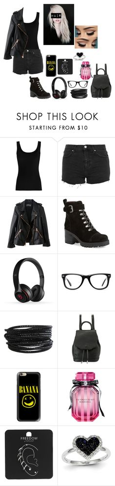 """""""School outfit #7"""" by weber-350 on Polyvore featuring Twenty, Topshop, Rosegold, Nine West, Muse, Pieces, rag & bone, Casetify, Victoria's Secret and Kevin Jewelers"""
