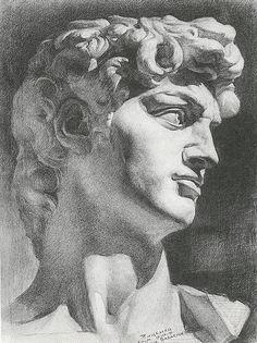 Рисунок гипсовой головы