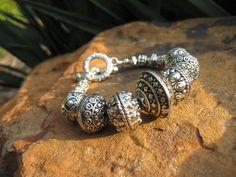 Southwestern Silver Bracelet by fleurdesignz on Etsy, $28.00