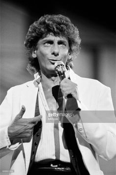 Barry Manilow in concert at Blenhiem Palace. 28th August 1983