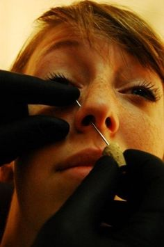 Nose Piercing Tips, this doesnt hurt the last layer of the your nose that the needle will go through sets off something connecting your eyes making them water it will be sore for a little while but after a couple hours you shouldnt feel as bad as it was at first