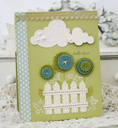 love the little fence. card by melissa phillips