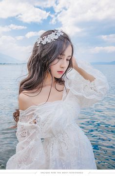 Two Piece Suit Vintage Lolita Hollow Out Embroidery Lace V-Neck Long Fairy Dress Cute Fashion, Girl Fashion, Moda China, Kim Jisoo, Fairy Dress, Fantasy Dress, Cute Korean, Ulzzang Girl, Aesthetic Girl