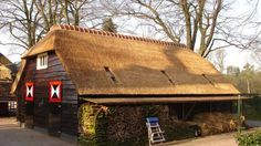 Restauratie rieten dak Schuur Elspeet - Riet Beheer rietdekkers