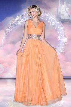 2014 V Neck Pleated Bodice Beaded Waistline Long Prom Dress Low Back Sexy
