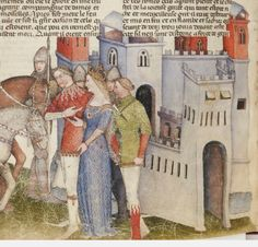 French Manuscript /  Castle - La Quête du Saint Graal et la Mort d'Arthus, de « GAUTIER MAP ».  Date d'édition :  1301-1400  Type :  manuscrit  Langue :  Français