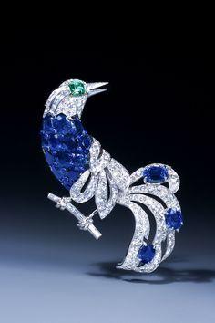 Collection Epoque Fine Jewels, Belgium : importante broche Oiseau de Paradis de…