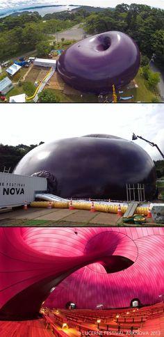 El arquitecto japonés Arata Isozaki y el escultor británico Anish Kapoor son los creadores de Ark Nova, una sala para conciertos inflable...