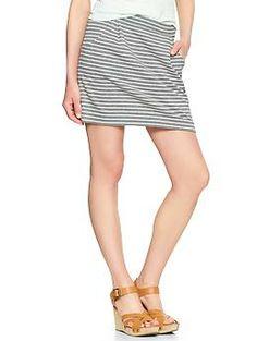 Zip-back striped jersey skirt | Gap