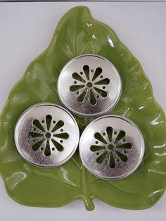 SALE SILVER Mason Jar Lids Daisy Flower Cut by IvanasGiftsNThings