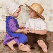 Amish children.