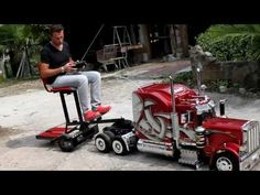 custom rc cars | Custom built RC Semi Truck. Awesome... | Cars And Stuff I Like