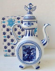 Vintage Tea Pot Gzhel Hand Made Russia ...