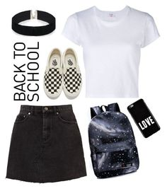 """""""Back to school"""" by citcat03 ❤ liked on Polyvore featuring RE/DONE, Givenchy, Vans and ASOS"""