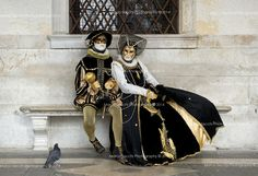 carnival costumes venice - Google Search black and white and gold
