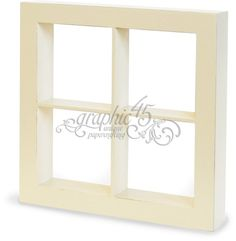 Graphic 45 - Staples Collection - Window Shadow Box - Ivory at Scrapbook.com