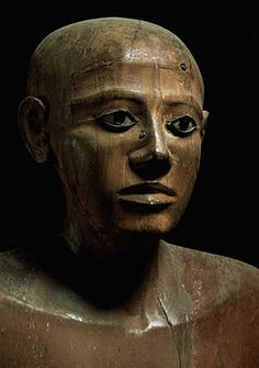12th Dynasty Egyptian - Statue of Chancellor Nakhti, from Asyut, early Middle Kingdom, c.1900 BC - digitaler Kunstdruck