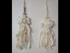 Shabby chic tassel tutorial. Will first show how to make a regular tassel and then a large shabby chic tassel with lace crystals and pearls.This is a great w...