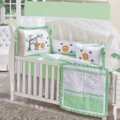 Baby Crib Bedding, Baby Bedroom, Safari Decorations, Safari Nursery, Cot, Baby Items, Baby Quilts, Toddler Bed, Kids Room