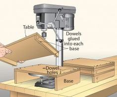 Stackable tables step up for simpler drilling
