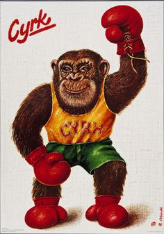 Feeling like a monkey with my new gloves :D [Poster by Rafal Olbinski]