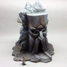 Scenery - Infernal Dwarf Terrain & Scenery - The Age Fantasy Castle, Fantasy Rpg, Minis, Dwarven City, Reptile Decor, Styrofoam Art, Castle Crafts, Dungeon Tiles, Warhammer Terrain