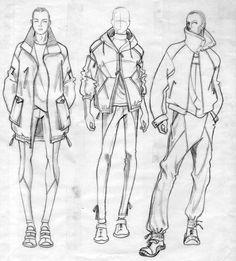 fashion illustration mens sweater - Google Search