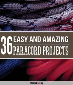 36 Paracord Projects For Preppers | The Best Selections Of DIY Paracord Projects, From Lanyards And Belts To Whips And Weapons - Even A Cool Paracord Keychain With A Secret Hidden Compartment by Survival Life at http://survivallife.com/2016/01/04/36-paracord-projects-preppers/
