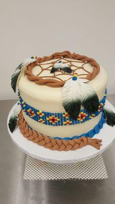 Dream catcher graduation cake