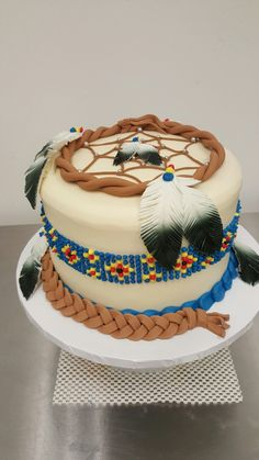 Dream catcher graduation cake