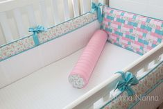 Protetor de Berço OLIVIA | Ninna Nanna - Enxoval de Bebê | 37DC5D - Elo7