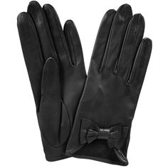 Charcoal Black Bow Gloves (125 CAD) ❤ liked on Polyvore featuring accessories, gloves, luvas, black, eldiven, bow gloves, leather bow gloves, black gloves, leather gloves and black leather gloves