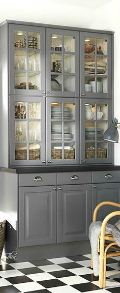 Love the grey.  Change of dishes to any color is very possible