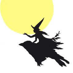 Harvest Moon Witch Papercutting. $45.00, via Etsy.