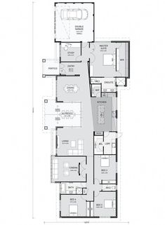 From innovative single storey house plans to traditional single storey homes, we are the single storey home builders Perth comes to for idyllic modern lifestyles. Browse our portfolio for your perfect home here. Single Storey House Plans, Narrow House Plans, Small House Floor Plans, Home Design Floor Plans, Dream House Plans, Simple Floor Plans, Modern Floor Plans, Farmhouse Floor Plans, Cottage Floor Plans