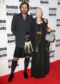 Vivienne Westwood Andreas Kronthaler Photos: Arrivals at the Scottish Fashion Awards