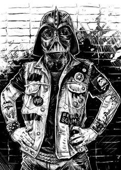 #punk Darth Vader, Star Wars