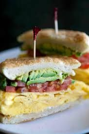 My fav, the Commuter at La Grand Orange in PHX, AZ. This good eat has avacado, bacon, tomato, scrambled egg, on a homemade english muffin. Enough said!