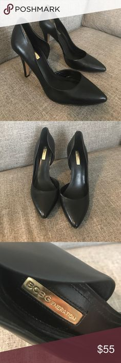 BCBGeneration - Black Closed Toe Heels. BCBGeneration - Black Closed Toe Heels. Pointed toe heels open on inside. BCBGeneration Shoes Heels