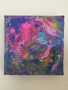 Abstract Painting, 5x5, Abstract Art, Expressionism, Office Wall Art,  Modern Art
