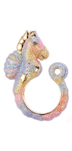 i have to start pinning less scary stuff because my i don't want these boards to give me nights so without further adieu, here is a pastel glittery seahorse. that is all.