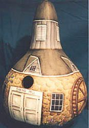 Spring Mill bird house from a gourd Gourds Birdhouse, Birdhouses, Fairy Homes, Painted Gourds, Gourd Art, Lily, Cottage, Yard, Country
