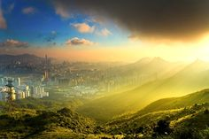 A majestic panorama of Hong Kong from Lion Rock