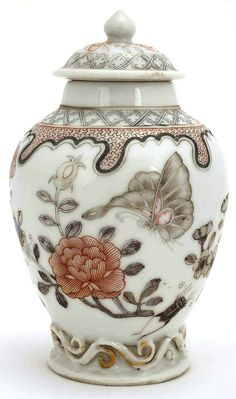 18/19C Chinese Export Famille Rose Porcelain Cover Jar