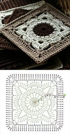 Transcendent Crochet a Solid Granny Square Ideas. Inconceivable Crochet a Solid Granny Square Ideas. Crochet Motifs, Crochet Blocks, Granny Square Crochet Pattern, Crochet Diagram, Crochet Stitches Patterns, Crochet Chart, Crochet Squares, Afghan Patterns, Pixel Crochet Blanket