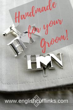 We make these bespoke initial cufflinks entirely by hand so they can be in any style you require. Each pair is unique and can be made in sterling silver, or yellow gold, white gold, or platinum. When You Are Happy, Jewelry Tray, Father Of The Bride, Special Gifts, Bespoke, Our Wedding, Initials, Wedding Cufflinks, White Gold