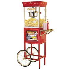 Retro popcorn machine, retro popcorn cart